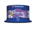 Verbatim DvdR 47Gb Inkjet Printable White Spindle DvdR 95136 PKT50