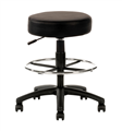 Chair Ys119D Utility Stool With Drafting Base Pu Black