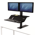 Fellowes SitStand Workstation Dual Monitor Mount Lotus Black