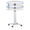 Table Height Adjustable BRT800 800dia x 688  1058H mm White