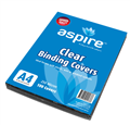 Asa Aspire  Binding Covers Clear Plastic A4 250 Microns Ombsa4  Pkt100  Ctn6