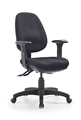 Express P350HcMb High Back Clerical Chair Back  3 Lever Black With Arms